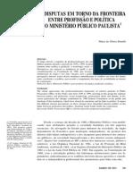 AS DISPUTAS EM TORNO DA FRONTEIRA ENTRE PROFISSÃO E POLÍTICA NO MINISTÉRIO PÚBLICO PAULISTA