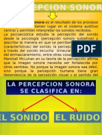 Percepcion Sonora