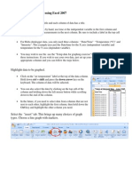 How to Make a Line Graph Using Excel 2007