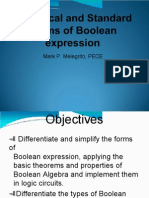 Canonical and Standard Forms of Boolean Expression