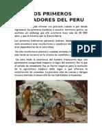 Los Primeros Pobladores Del Perú