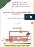 Aula Fisiologia Digestiva Dos Animais Não Ruminantes