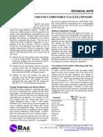 Factor de Corrección Sensores Detectores