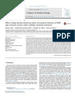 Effect of High Density Dispersion Fuels on Transient Behavior of MTR