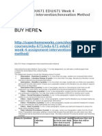 EDU 671 Week 4 Assignment Intervention:Innovation Method .docx