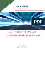 Altai Access Controller Configuration Manual _ v2.0