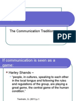 The Communication Traditions