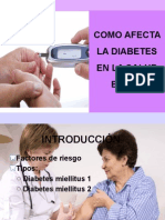 Diabetes y salud oral