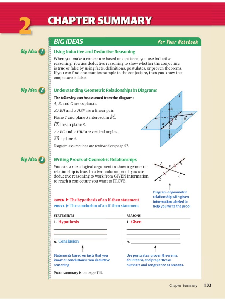 geometry review chapter 2 Deductive Reasoning – Inductive Vs Deductive Reasoning Worksheet