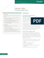 Pivotal Data Science Labs DS