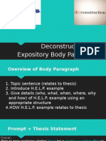 deconstruct the body paragraph honors