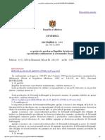 Hotarirea Guvernului Nr. 1465 Din 08.12.2003 Cu Privire La Aprobarea Regulilor de Inlocuire a Produselor Nealimentare Si a Termenelor de Garantie
