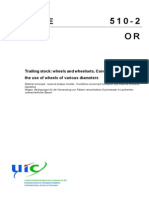 UIC_510!2!2004 Wheels and Wheelsets.conditions Concerning the Use of Wheels of Various Diameters