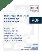 Rapport Numérique et libertés
