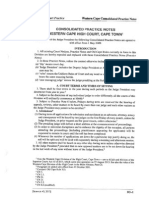 Consolidated Practice Notes Cape Bar South Africa 02.2014