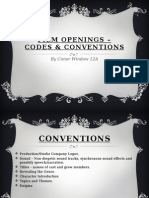 Opening Codes and Conventions