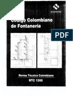 CODIGO FONTANERIA NTC1500