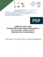 Ghid de Aplicare Instrumente de Monitorizare Si Evaluare Impact Program