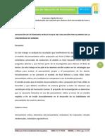Aplicación de Estándares Intelectuales de Evaluación Por Alumnos de La Universidad de Sonora