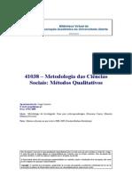 41038 - Metodologia Das Ciências Sociais_Metodos Quatitativos - (Apontamentos) Jorge Loureiro