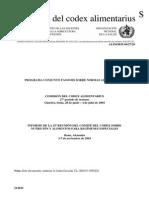 CODEX - Nutrición y Alimentos Para Regímenes Especiales