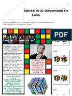 Rubik Cube Solved in 20 Movements or Less - Fixr