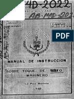 Manual de Instrucción Sobre Toque de Pito Marinero 1989