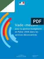 Gestion Service Deconcentres 2006