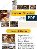 Pelayanan Gizi Institusi
