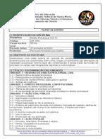 Plano de Ensino - Direito UFSM