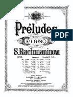 Rachmaninoff Prelude in g Minor