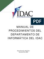 Manual Procedimientos Informatica