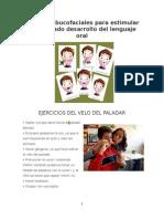 Ejercicios Bucofaciales Para Estimular El Adecuado Desarrollo Del Lenguaje Oral