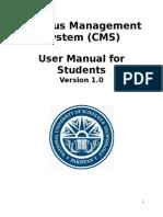 CMS - Student Manual v 1.0
