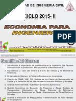 Clase 01 Economia Para Ing 2015 II