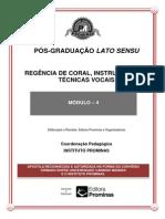 Regência de Coral, Instrumentos e Técnicas Vocais--módulo 4