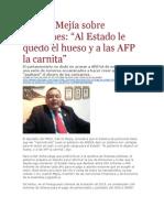 La Pagina - Calixto Mejía Sobre Pensiones - Al Estado Le Quedó El Hueso y a Las AFP La Carnita - 08 10 15