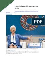 EDH - FMI Advierte Que Latinoamérica Entrará en Recesión Este Año - 08 10 15