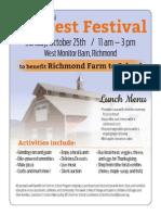 Harvest Fair Flyer 2015