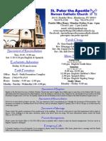 St. Peter the Apostle Bulletin 10-11-15