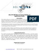 DirecTV XM Music Module Help v1