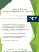 Londonderry Township Flood Plain Ordinance Enforcement meeting July 2015