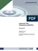 nanoLOC TRX NA5TR1 Datasheet