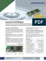 NanoLOC AVR Module Flyer V140 FOL 2009-11-19
