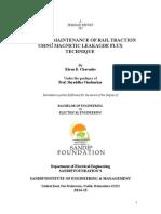 ADVANCED MAINTENANCE OF RAIL TRACTION USING MAGNETIC LEAKAGDE FLUX TECHNIQUE