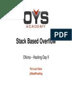 Stack Based Overflow