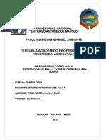 Edafologia - Informe 06 (Determinacion Del PH)