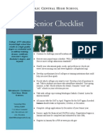 junior senior checklist