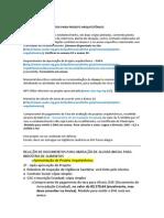 Relação de Documentos Para Liberação de Alvará Sanitário