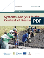 Informe Systems Analysis in the Context of Resilience FSIN Technical Series No. 6